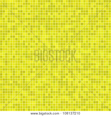 Yellow pixel mosaic background