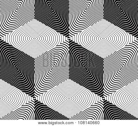Contrast Black And White Seamless Pattern With cubes. Continuous Geometric