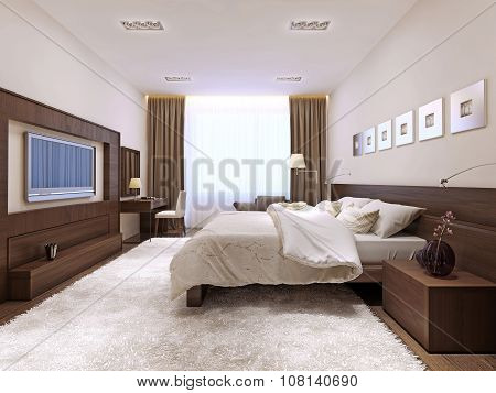 Bedroom Interior In Techno Style