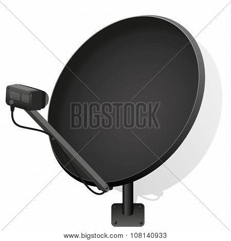 Satellite Dish Black