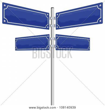 Blank Street Sign Panels