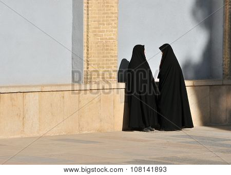 Two Muslim's Woman Talk