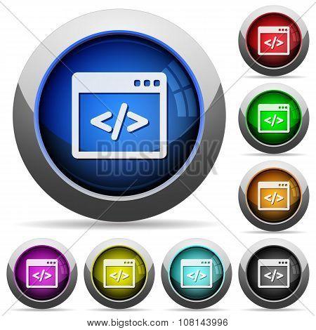 Programming Code Button Set