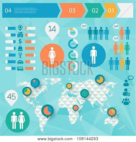 Human issues infographics