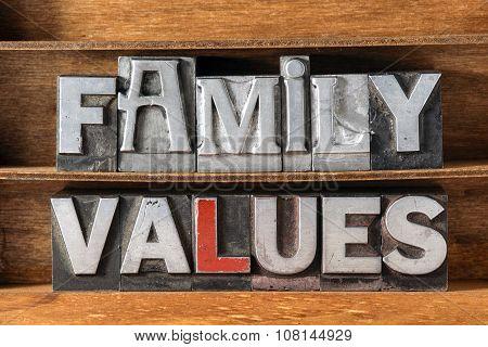 Family Values Tray