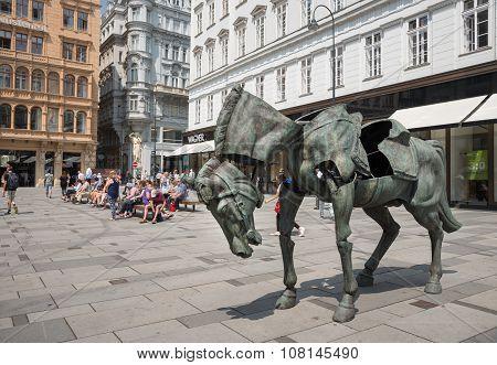 Statue Of Archduke Karl In Graben Street - Vienna