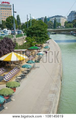 Boats On Danube River - Wien