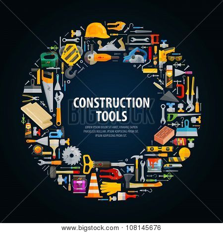 repair and construction vector logo design template. tools or building icons