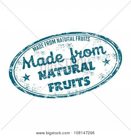 Made from natural fruits stamp