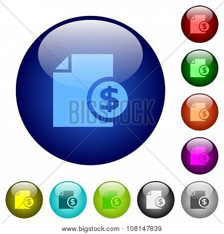 Color Money Report Glass Buttons