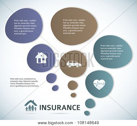 Insurance-presentation-template-gray-background-bulbs