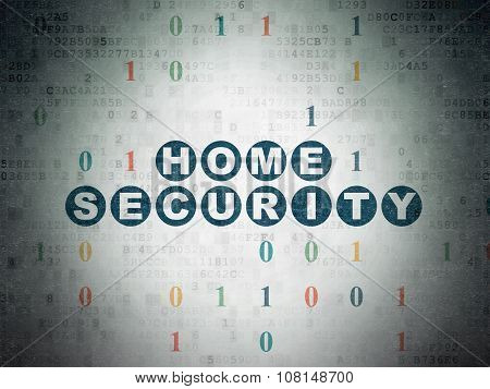 Safety concept: Home Security on Digital Paper background