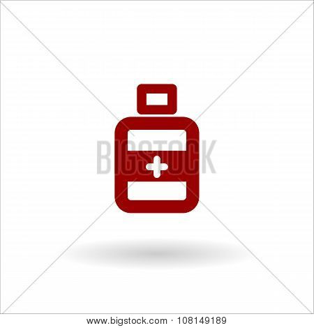 Color Bottle Medical Vector Line Icon