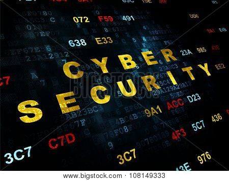 Protection concept: Cyber Security on Digital background