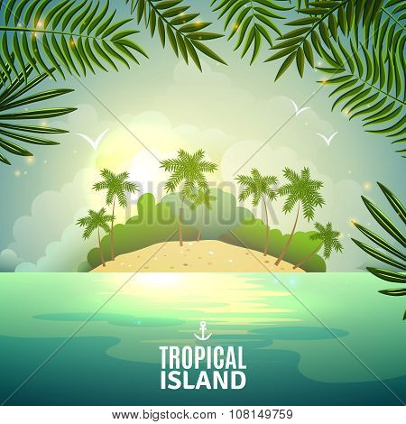 Tropical island nature poster