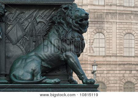 Lion On The Monument Of Maximilian Joseph