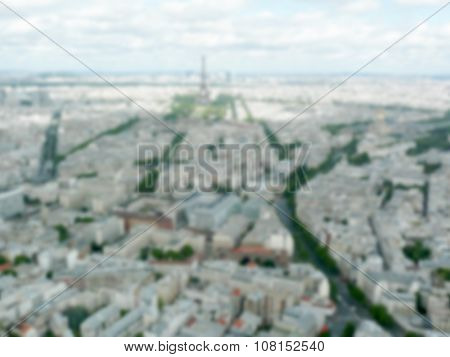 Defocused Background Of Paris. Intentionally Blurred Post Production
