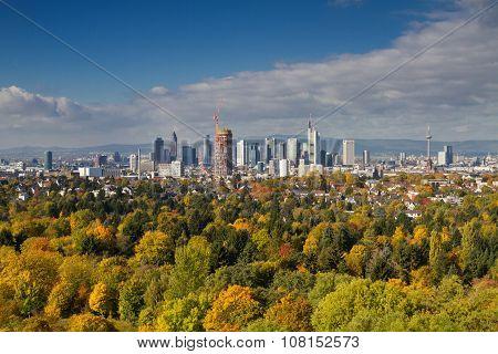 Cityscape Of Frankfurt As Seen From Goetheturm