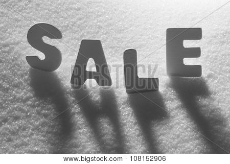 White Word Sale On Snow