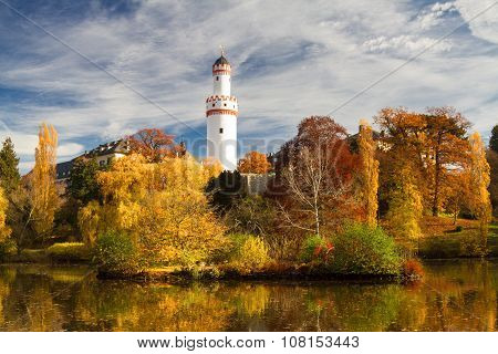 Park Of Castle Bad Homburg In Fall Colours
