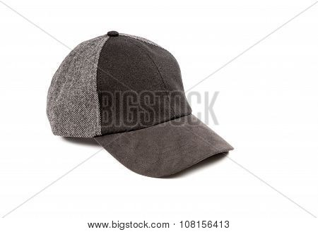 Man's Wool Cap Isolated on White
