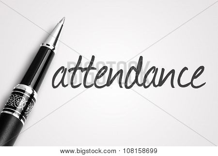 Pen Writes Attendance On Paper