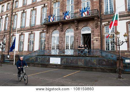 The European Union Flag Flies At Half-mast City Hall
