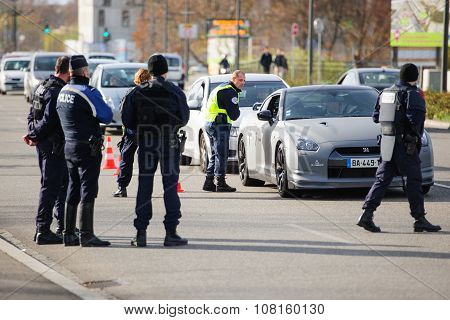 France Paris Attacks - Border Surveillance With Germany