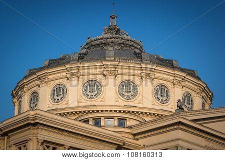 Romanian Athenaeum, ancient building in Bucharest, Romania