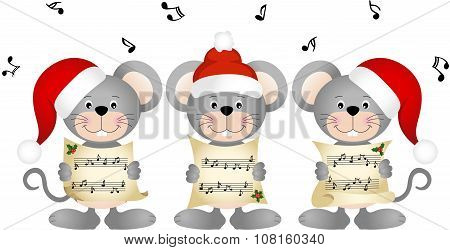 Christmas mouses choir singing