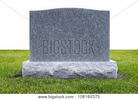 Grave Stone on Green Grass