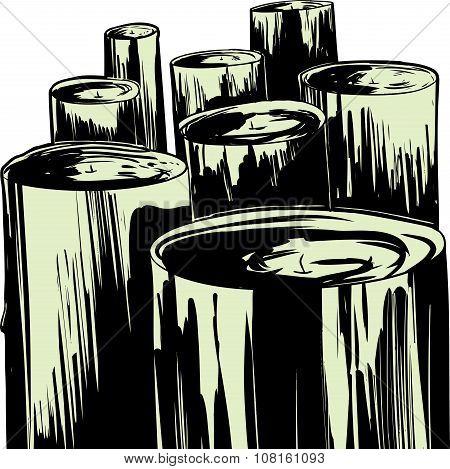 Unlit Candle Illustration