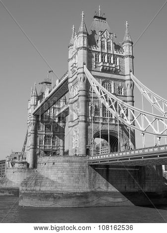 Black And White Tower Bridge In London
