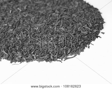 Black And White Loose Tea Heap