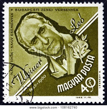 Postage Stamp Hungary 1963 Leo Weiner, Composer