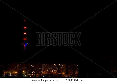 Tallinn Tv Tower In Colors Of France