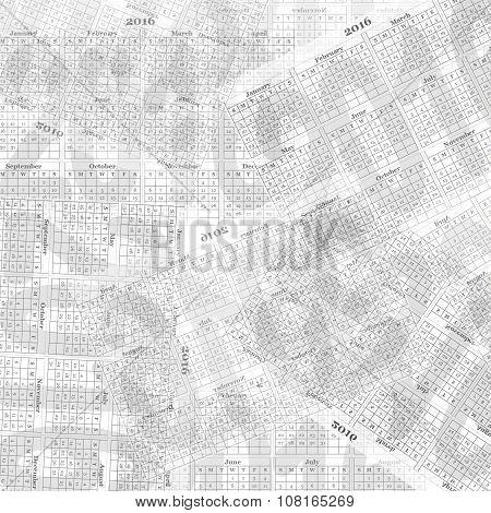 Calendar Concept Overlay Abstract Background