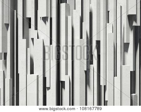 3d image of concrete geometric wall