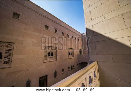 Architectural details of Grand Mosque, Muscat, Oman.