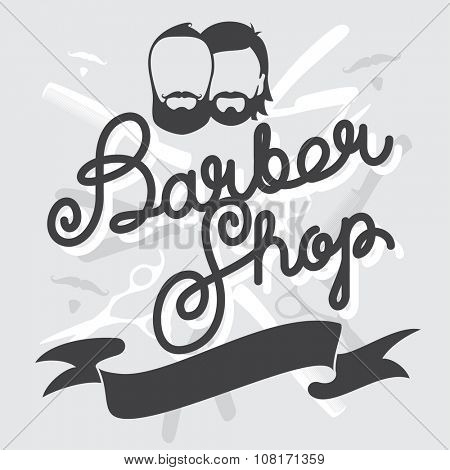 Hipster Barber Shop Vintage Template