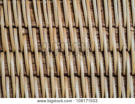 Bamboo thai Craft pattern backgrund Texture