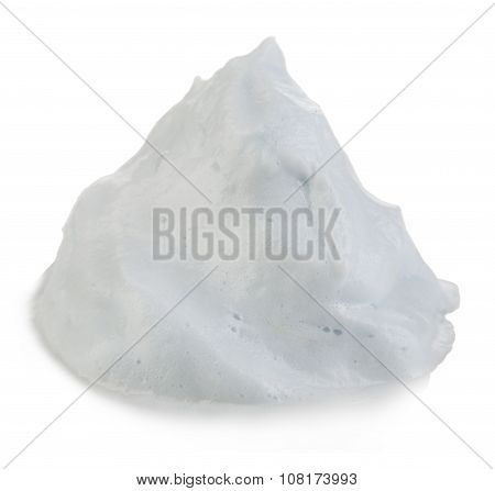 White Foam Cream Mousse Soap Lotion Isolated On A White Background.