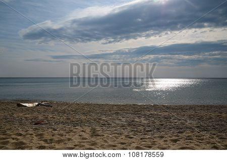 The Sparkling Water Of Lake Baikal In The Morning Sun