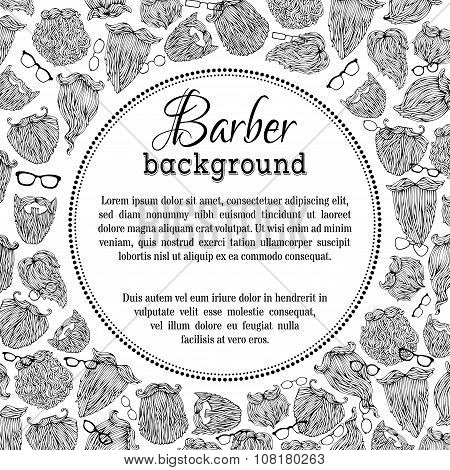 Black And White Barber Background.