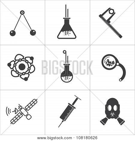 Science flat icons