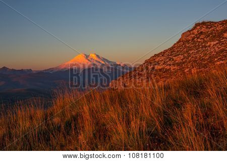 Mount Elbrus in the morning