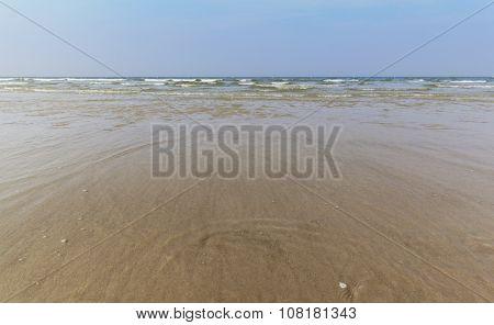 North Sea Sandy Beach