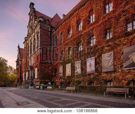 Wroclaw, Poland, - November 1, 2015: Wroclaw National museum