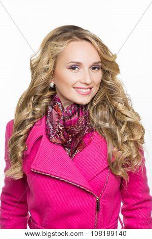 Fashion girl wearing winter fur coat