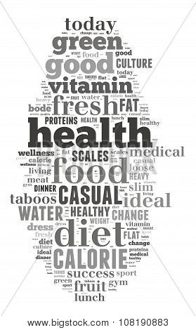 Health And Diet Word Cloud Concept